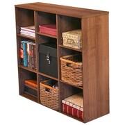 Venture Horizon VHZ Office Project 36'' Cube Unit Bookcase; Dark Walnut