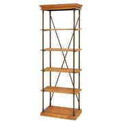 Cole & Grey Metal and Wood 72'' Standard Bookcase