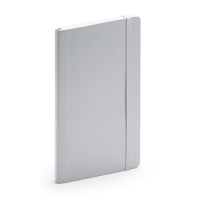 Poppin Medium Soft Cover Notebooks Light Gray 25 Pack 101724