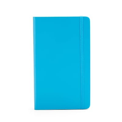 Poppin Medium Hard Cover Notebooks Pool Blue 25 Pack 104117