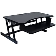 "Rocelco Deluxe Sit-to-Stand Adjustable Desk Riser, 37"" x 20.5"" Work Surface,Black (DADR)"