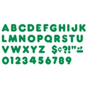 "Trend Enterprises® Ready Casual Uppercase Letter, 4"", Kelly Green"