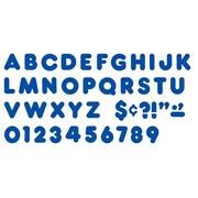 """Trend Enterprises® Casual Ready Letter, 4"""", Royal Blue"""
