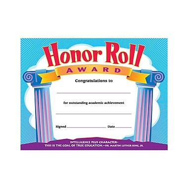 Trend Enterprises® Colorful Classics Certificate Awards, Honor Roll