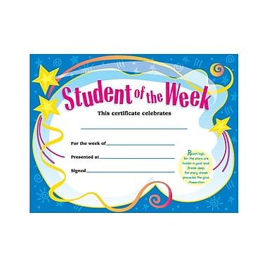 Trend Enterprises® Student of The Week Certificate, 8 1/2