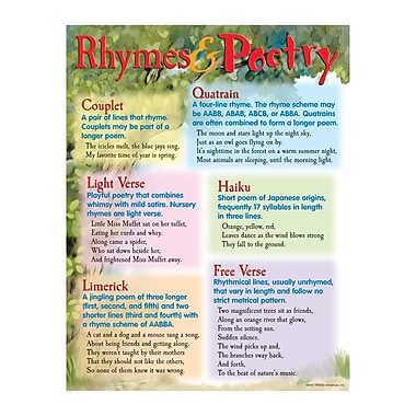 Trend Enterprises® Rhymes and Poetry Learning Chart