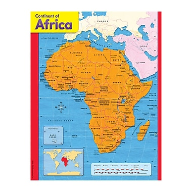 Trend Enterprises® Continent of Africa Learning Chart