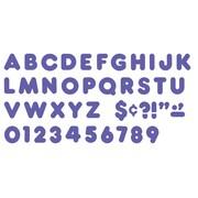 """Trend Enterprises® Casual Ready Letter, 4"""", Purple"""