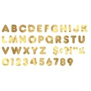 "Trend Enterprises® Casual Ready Letter, 4"", Metallic Gold"