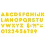 """Trend Enterprises® Casual Ready Uppercase Letter, 2"""", Gold"""
