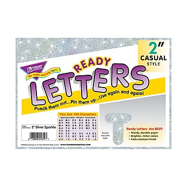 Trend Enterprises® Casual Sparkles Ready Uppercase Letter, 2