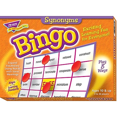 Trend Enterprises® Synonyms Bingo Game, Grades 5th - 8th