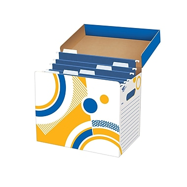 Trend Enterprises® File'n Save System® File Folder Box, Assorted