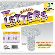 """Trend Enterprises® Ready Uppercase Letter, 3"""", Sparkle Glitter, Silver"""