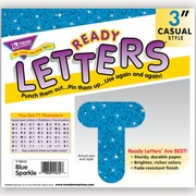 "Trend Enterprises® Ready Uppercase Letter, 3"", Sparkle Glitter, Blue"