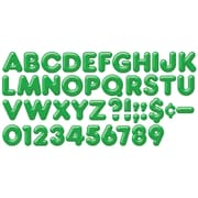 "Trend Enterprises® 3D Casual Ready Letter, 4"", Green"