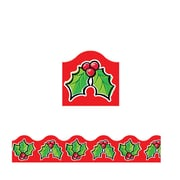 Trend Enterprises® Pre-Kindergarten - 9th Grades Scalloped Terrific Trimmer, Christmas Holly