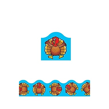 Trend Enterprises® Pre-kindergarten - 12th Grades Scalloped Terrific Trimmer, Turkey Time