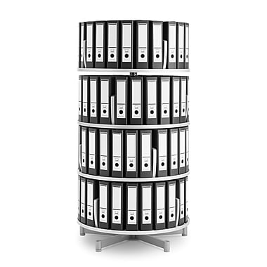 Moll® Deluxe Binder & File Carousel Shelving, Four Tier (CL4-80)