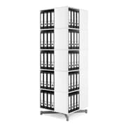 Moll® Cube Binder & File Carousel Shelving, Five Tier (CUBE5)
