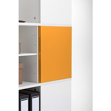 Moll® Magnetic Boards for Cube Binder & File Carousel Shelving, Orange (CUBEMB-OR)