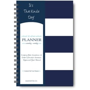 "It's That Kinda Day®School & After School Planner, Undated, Monthly/Weekly, 12 Months, 9"" x 6"", Navy Stripe (ITKSNS)"