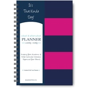 "It's That Kinda Day®School & After School Planner, Undated, Monthly/Weekly, 12 Months, 9"" x 6"", Pink Stripe (ITKSPS)"