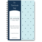 "It's That Kinda Day®School & After School Planner, Undated, Monthly/Weekly, 12 Months, 9"" x 6"", Teal Polka Dots (ITKSTPD)"