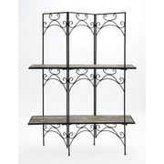 Cole & Grey Wood and Metal Screen 70'' Etagere Bookcase