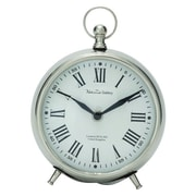 Cole & Grey Stainless Steel Table Clock