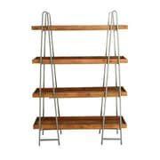 Cole & Grey Wood and Metal 4 Tier 65'' Etagere Bookcase