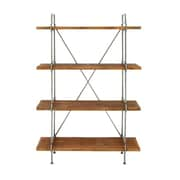 Cole & Grey Wood and Metal 4 Tier 67'' Etagere Bookcase
