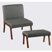 Holly & Martin Plexus Side Chair and Ottoman