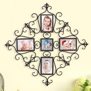 AdecoTrading 5 Opening Decorative Iron Metal Wall Hanging Collage Picture Frame