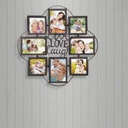 AdecoTrading 8 Opening Decorative Iron Metal Wall Hanging Collage Picture Frame