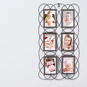 AdecoTrading 6 Opening Decorative Iron Metal Wall Hanging Collage Picture Frame