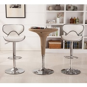 Roundhill Furniture Adjustable Height Swivel Bar Stool (Set of 2); White