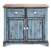 Cole & Grey 2 Door 2 Drawer Wood Accent Cabinet