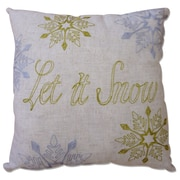 Homewear Linens Shimmering Snowday Decorative Throw Pillow