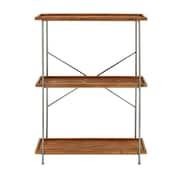 Cole & Grey Metal and Wood 3 Tier 45'' Etagere Bookcase