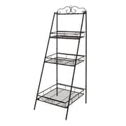 Cole & Grey Metal 3 Tier 59'' Leaning Bookcase