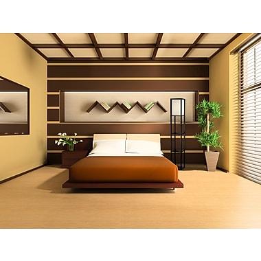 Adesso® 3138-01 Wright Shelf Floor Lamp, 1 x 150 W, Black Walnut