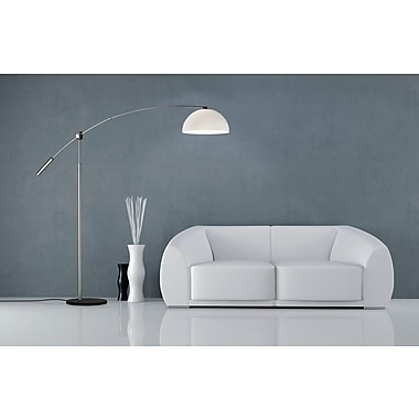 Adesso® 4134-22 Outreach Arc Lamp, 1 x 150 W, Satin Steel