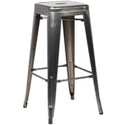 Edgemod Trattoria 30'' Bar Stool (Set of 4); Polished Gunmetal