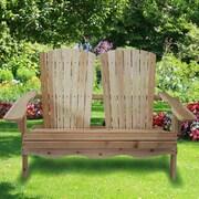 Stonegate Designs Furniture Folding Double Fir Wood Adirondack Bench