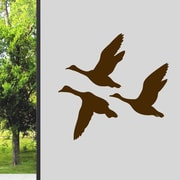 SweetumsWallDecals Flying Ducks Wall Decal; Brown