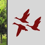 SweetumsWallDecals Flying Ducks Wall Decal; Cranberry