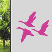 SweetumsWallDecals Flying Ducks Wall Decal; Hot Pink