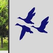 SweetumsWallDecals Flying Ducks Wall Decal; Navy