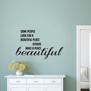 SweetumsWallDecals Make a Place Beautiful Wall Decal; Black
